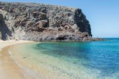 Playa de Papagayo of Lanzarote, Canary Islands Royalty Free Stock Photos