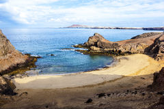 Playa de Papagayo (Parrot's beach) on Lanzarote, Canary islands Royalty Free Stock Photography