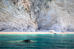 Playa de Paradisos, Chomi, Grecia Fotos de archivo libres de regalías