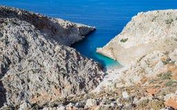 Playa de Paralia Seitan Limania Foto de archivo libre de regalías