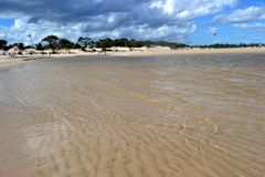 Playa de Parque del Plata, Canelones στοκ εικόνες με δικαίωμα ελεύθερης χρήσης