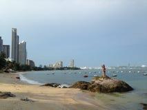 Playa de Pattaya, Tailandia Imagen de archivo