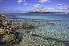 Playa de Pelosa del La, sassari foto de archivo