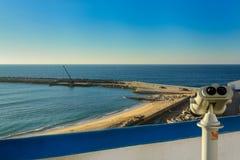 Playa de Pescadores en el pueblo de Ericeira, Portugal Imagen de archivo