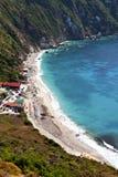 Playa de ?Petani? en la isla de Kefalonia fotografía de archivo