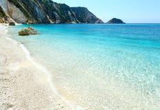 Playa de Petani (Kefalonia, Grecia) Imagenes de archivo