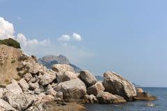 Playa de piedra Imagen de archivo libre de regalías