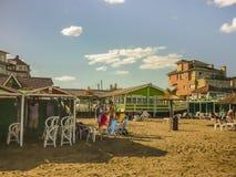 Playa de Pinamar en el verano Foto de archivo libre de regalías