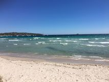 Playa de Pinarellu, Córcega Imagen de archivo libre de regalías