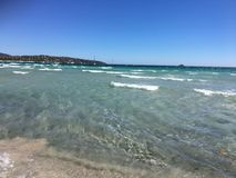 Playa de Pinarellu, Córcega Imagenes de archivo
