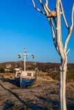 Playa de Plaka, Naxos, Grecia foto de archivo