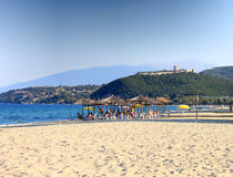 Playa de Platamon, Grecia Imagen de archivo