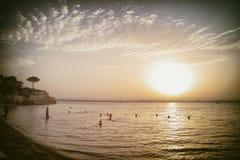 Playa de Plemmirio Foto de archivo