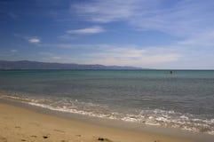 Playa de Poetto Imagen de archivo