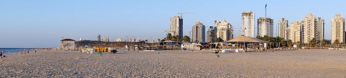 Playa de Poleg Foto de archivo libre de regalías