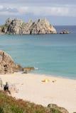 Playa de Porthcurno Imagen de archivo