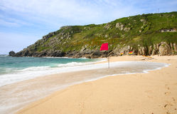 Playa de Porthcurno. Imagenes de archivo