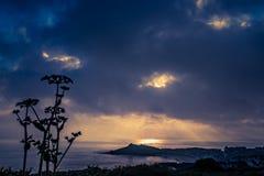 Playa de Porthgwidden en St Ives en el amanecer Imágenes de archivo libres de regalías