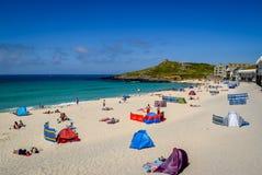 Playa de Porthmeor, St Ives, Cornualles Imágenes de archivo libres de regalías