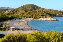 Playa de Porticciolo en Chia fotografía de archivo libre de regalías