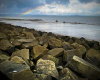 Playa de Portobello, Edimburgo, Escocia fotografía de archivo