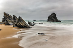 Playa de Portugal Imagen de archivo libre de regalías