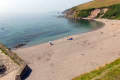 Playa de Portwrinkle cerca de Looe Cornualles Inglaterra, Reino Unido Fotografía de archivo libre de regalías