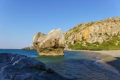 Playa de Preveli foto de archivo