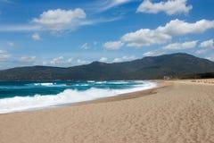 Playa de Propriano en Corse - Francia Fotos de archivo