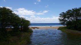Playa de Puamana, Maui Imagen de archivo libre de regalías