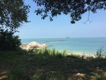Playa de Pulau Besar Imagenes de archivo
