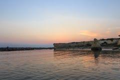 Playa de Punta Cirica en la puesta del sol fotografía de archivo libre de regalías