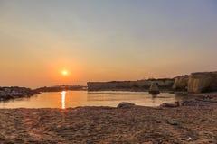 Playa de Punta Cirica en la puesta del sol fotografía de archivo