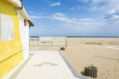 Playa de Rímini Foto de archivo