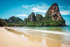 Playa de Railay en Tailandia Foto de archivo libre de regalías