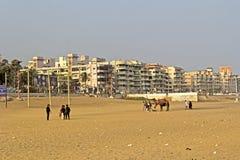 Playa de Ramakrishna en Vishakhapatnam imágenes de archivo libres de regalías