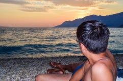 Playa de Rata, Brela, Croacia fotografía de archivo libre de regalías