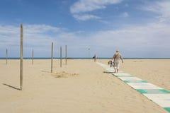 Playa de Rímini Imagenes de archivo