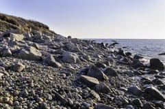 Playa de Rocky New England foto de archivo libre de regalías
