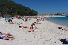 Playa de Rodas en la isla de Cies Fotos de archivo