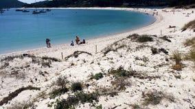 Playa de Rodas en las islas de Cies de España