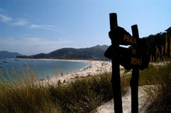 Playa de Rodas, Parque Nacional de las Islas Atlanticas, Islas C Fotografia de Stock