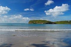 Playa de Sagesse del La en la isla de Grenada Foto de archivo