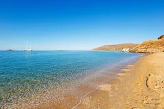 Playa de San Pedro en Andros, Grecia Imagenes de archivo