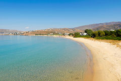 Playa de San Pedro en Andros, Grecia Imagen de archivo
