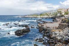 Playa de San Telmo en Tenerife Foto de archivo libre de regalías