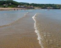 Playa de Sandsend imágenes de archivo libres de regalías