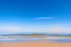 Playa de Sandy Fotos de archivo
