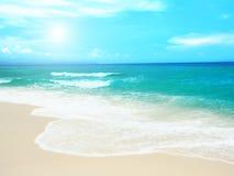 Playa de Sandy Imagenes de archivo