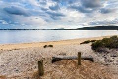 Playa de Sandy cerca de Walpole foto de archivo